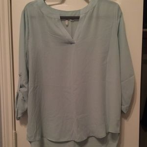 Light Aqua Blue Blouse